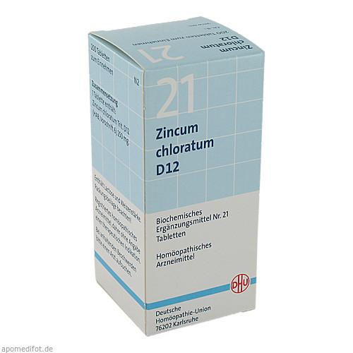 BIOCHEMIE DHU 21 ZINCUM CHLORATUM D12, 200 ST, Dhu-Arzneimittel GmbH & Co. KG
