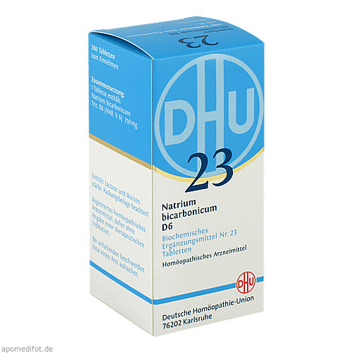 BIOCHEMIE DHU 23 NATRIUM BICARBONICUM D 6, 200 ST, Dhu-Arzneimittel GmbH & Co. KG