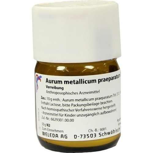 AURUM MET PRAEP D12, 50 G, Weleda AG