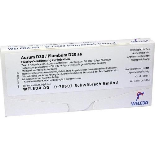 AURUM D30 PLUMB D20 AA, 8X1 ML, Weleda AG