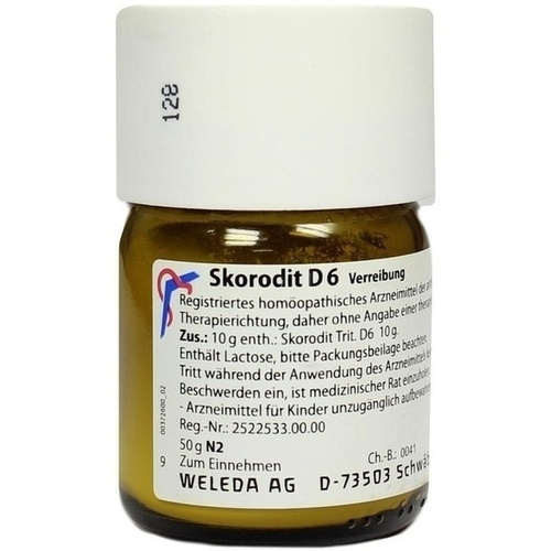 SKORODIT D 6, 50 G, Weleda AG