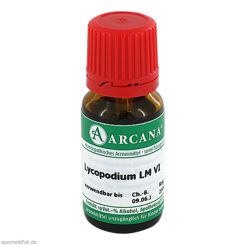 LYCOPODIUM ARCA LM 6, 10 ML, Arcana Arzneimittel-Herstellung Dr. Sewerin GmbH & Co. KG