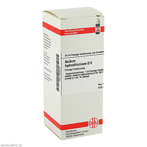 ACIDUM HYDROCHLORICUM D 6 Dilution, 50 ML, DHU-Arzneimittel GmbH & Co. KG