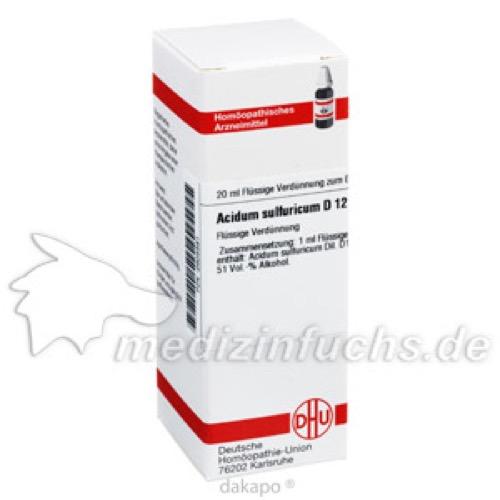 ACIDUM SULF D12, 20 ML, Dhu-Arzneimittel GmbH & Co. KG