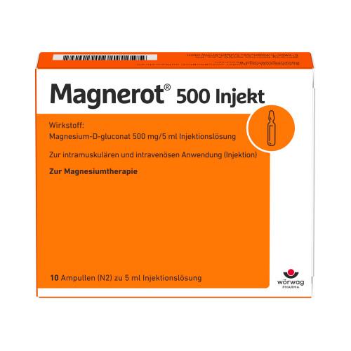 magnerot 500 Injekt, 10X5 ML, Wörwag Pharma GmbH & Co. KG
