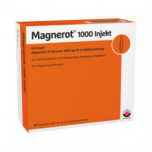 magnerot 1000 Injekt, 10X10 ML, Wörwag Pharma GmbH & Co. KG