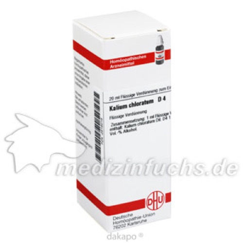 KALIUM CHLORAT D 4, 20 ML, Dhu-Arzneimittel GmbH & Co. KG