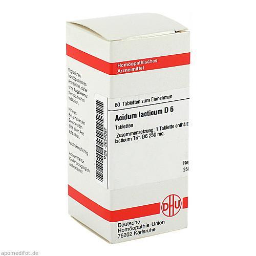 ACIDUM LACTIC D 6, 80 ST, Dhu-Arzneimittel GmbH & Co. KG