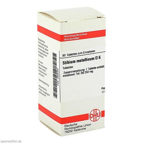 STIBIUM METALLICUM D 6, 80 ST, Dhu-Arzneimittel GmbH & Co. KG