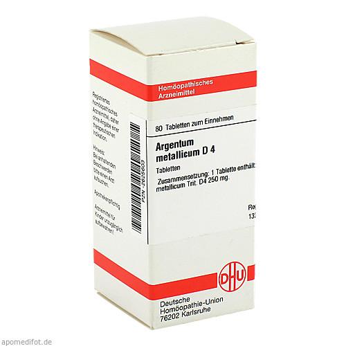 ARGENTUM METALLICUM D 4 Tabletten, 80 ST, DHU-Arzneimittel GmbH & Co. KG