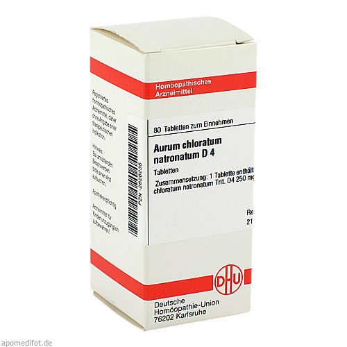AURUM CHLORATUM NATRON D 4, 80 ST, Dhu-Arzneimittel GmbH & Co. KG