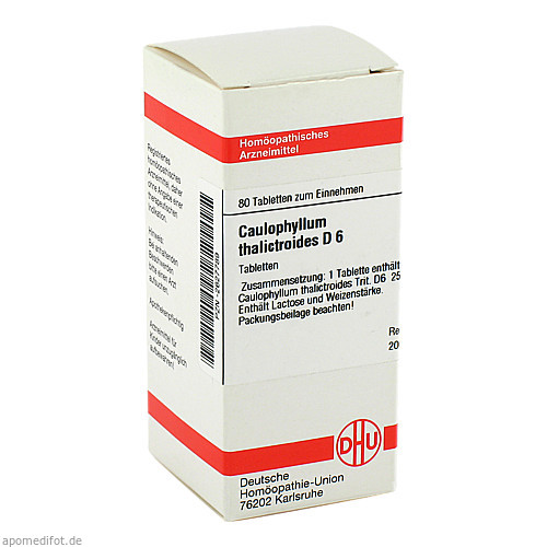 CAULOPHYLLUM THA D 6, 80 ST, Dhu-Arzneimittel GmbH & Co. KG