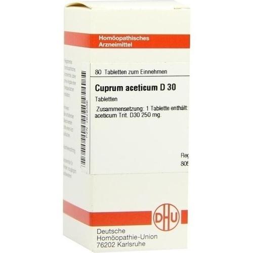 CUPRUM ACET D30, 80 ST, Dhu-Arzneimittel GmbH & Co. KG