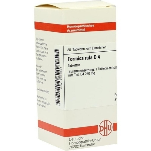 FORMICA RUFA D 4, 80 ST, Dhu-Arzneimittel GmbH & Co. KG