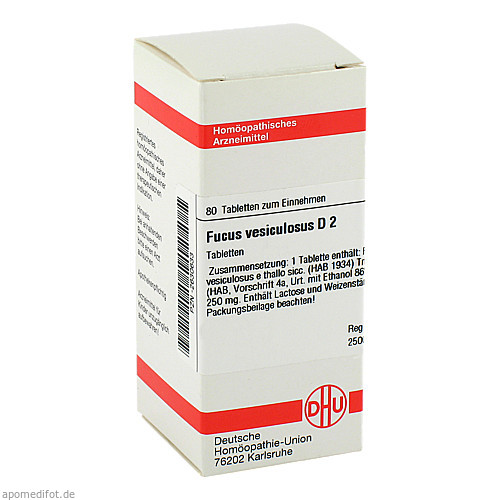 FUCUS VESICUL D 2, 80 ST, Dhu-Arzneimittel GmbH & Co. KG