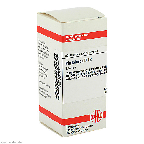 PHYTOLACCA D12, 80 ST, Dhu-Arzneimittel GmbH & Co. KG