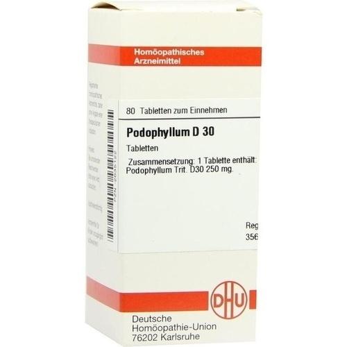 PODOPHYLLUM D30, 80 ST, Dhu-Arzneimittel GmbH & Co. KG