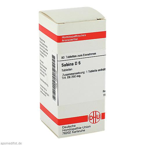 SABINA D 6, 80 ST, Dhu-Arzneimittel GmbH & Co. KG