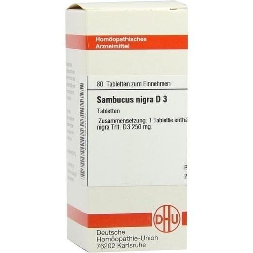 SAMBUCUS NIGRA D 3, 80 ST, Dhu-Arzneimittel GmbH & Co. KG