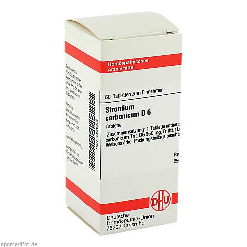 STRONTIUM CARBONICUM D 6, 80 ST, Dhu-Arzneimittel GmbH & Co. KG