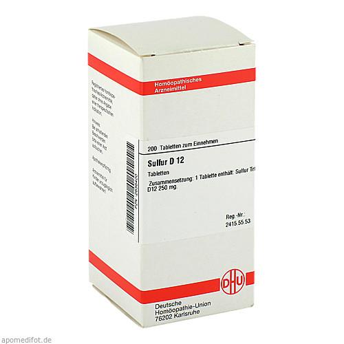 SULFUR D12, 200 ST, Dhu-Arzneimittel GmbH & Co. KG