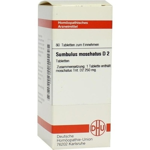 SUMBULUS MOSCHAT D 2, 80 ST, Dhu-Arzneimittel GmbH & Co. KG