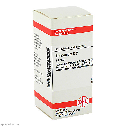 TARAXACUM D 2, 80 ST, Dhu-Arzneimittel GmbH & Co. KG