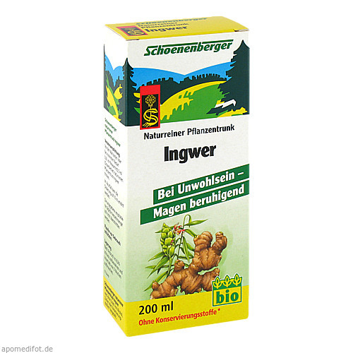 INGWER PFLANZENTRUNK SCHOENENBERGER, 200 ML, Salus Pharma GmbH