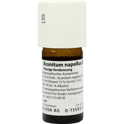 ACONITUM NAPELLUS D 30 Dilution, 20 ML, WELEDA AG