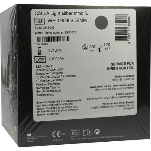 WELLION CALLA Light Blutzuckermg.SET mmol/L silber, 1 ST, Med Trust GmbH