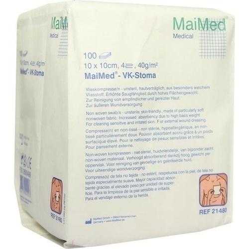 Vlieskompressen 10x10cm 4-fach unsteril 40g, 100 ST, Maimed GmbH