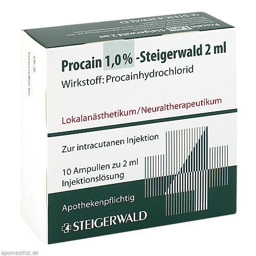 PROCAIN 1% STEIGERWALD, 10X2 ML, Bayer Vital GmbH GB Pharma