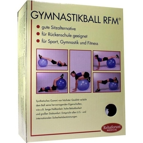 Gymnastikball Rehaforum 55cm orange-metallic, 1 ST, Rehaforum Medical GmbH