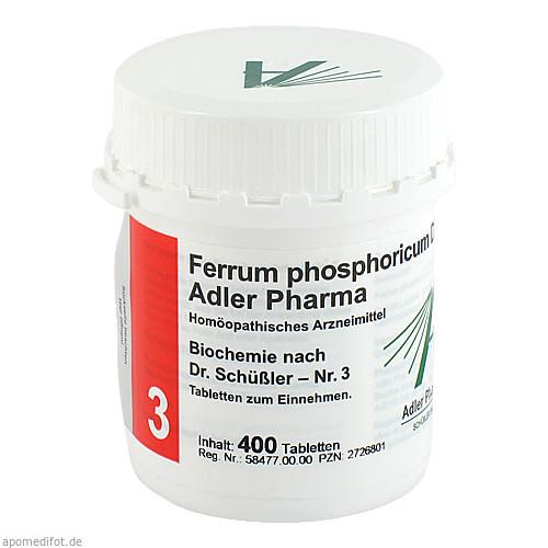 Biochemie Adler 3 Ferrum Phosphoricum D12 Adler Ph, 400 ST, Adler Pharma Produktion und Vertrieb GmbH