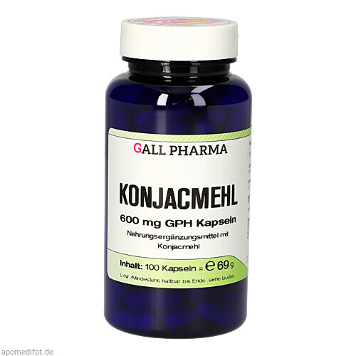 Konjac-Mehl 600mg Kapseln, 100 ST, Hecht-Pharma GmbH