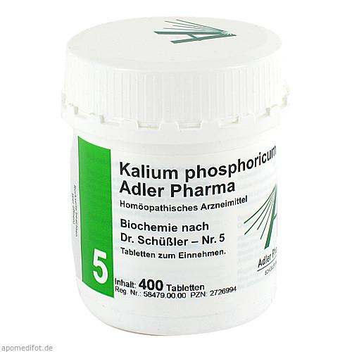 Biochemie Adler 5 Kalium Phosphoricum D 6 Adler Ph, 400 ST, Adler Pharma Produktion und Vertrieb GmbH