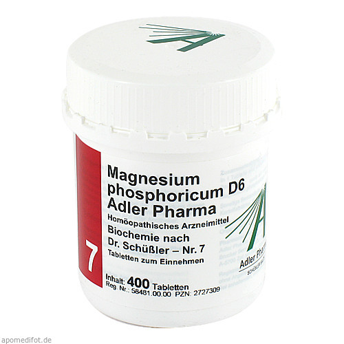 Biochemie Adler 7 Magnesium Phosphoricum D 6 Adler, 400 ST, Adler Pharma Produktion und Vertrieb GmbH
