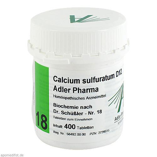Biochemie Adler 18 Calcium Sulfuratum D12 Adler Ph, 400 ST, Adler Pharma Produktion und Vertrieb GmbH