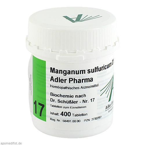 Biochemie Adler 17 Manganum Sulfuricum D12 Adler P, 400 ST, Adler Pharma Produktion und Vertrieb GmbH