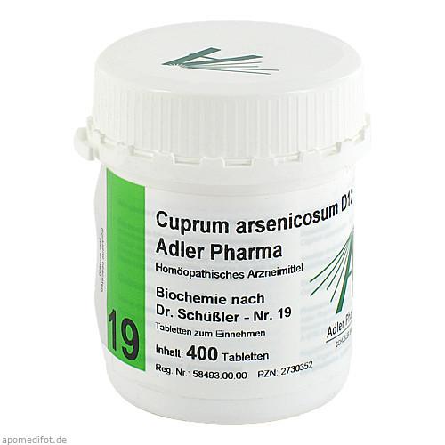 Biochemie Adler 19 Cuprum Arsenicosum D12 Adler Ph, 400 ST, Adler Pharma Produktion und Vertrieb GmbH