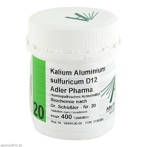 Biochemie Adler 20 Kalium-Aluminium Sulf.D12 Adler, 400 ST, Adler Pharma Produktion und Vertrieb GmbH