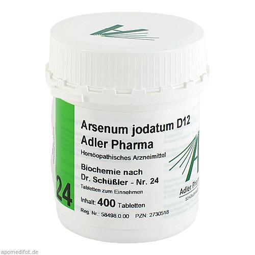 Biochemie Adler 24 Arsenum Jodatum D12 Adler Pharm, 400 ST, Adler Pharma Produktion und Vertrieb GmbH