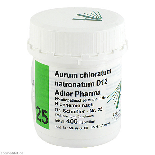 Biochemie Adler 25 Aurum Chlor.Natronat.D12 Adler, 400 ST, Adler Pharma Produktion und Vertrieb GmbH