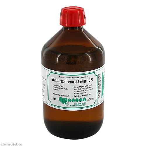 Wasserstoffperoxid-Lösung 3%, 500 G, Pharmachem GmbH & Co. KG