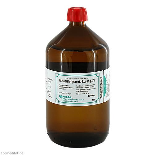 Wasserstoffperoxid-Lösung 3%, 1000 G, Pharmachem GmbH & Co. KG