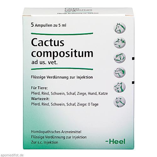CACTUS COMPOSITUM ad us.vet.Ampullen, 5 ST, Biologische Heilmittel Heel GmbH