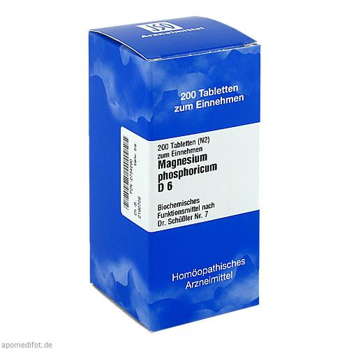 BIOCHEMIE 7 Magnesium phosphoricum D 6 Tabletten, 200 ST, ISO-Arzneimittel GmbH & Co. KG