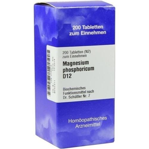 BIOCHEMIE 7 Magnesium phosphoricum D 12 Tabletten, 200 ST, ISO-Arzneimittel GmbH & Co. KG