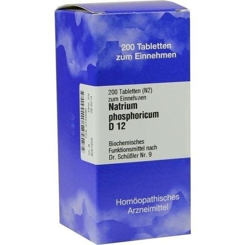 BIOCHEMIE 9 Natrium phosphoricum D 12 Tabletten, 200 ST, ISO-Arzneimittel GmbH & Co. KG