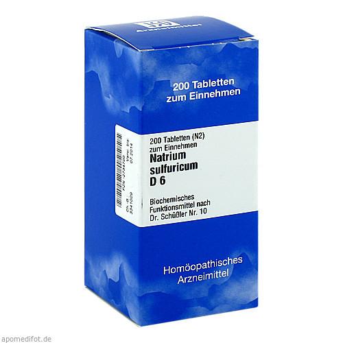 BIOCHEMIE 10 NATR SULF D 6, 200 ST, Iso-Arzneimittel GmbH & Co. KG